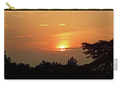 As The Sun Sets ... Orange Carry-all Pouch by Exploramum Exploramum