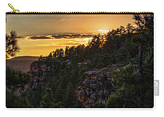 Carry-all Pouch featuring the photograph As The Sun Sets On The Rim  by Saija Lehtonen