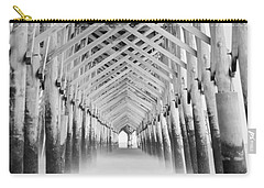 As The Water Fades Grayscale Carry-all Pouch by Jennifer White