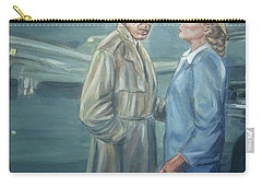 Carry-all Pouch featuring the painting As Time Goes By by Bryan Bustard