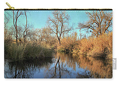 Carry-all Pouch featuring the photograph As We Taked About The Year by Laurie Search