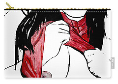 Carry-all Pouch featuring the painting Asain Dreams by Tbone Oliver