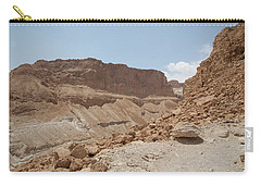 Carry-all Pouch featuring the photograph Ascension To Masada - Judean Desert, Israel by Yoel Koskas