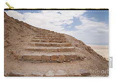 Carry-all Pouch featuring the photograph Stairway To Heaven - Masada, Judean Desert, Israel by Yoel Koskas