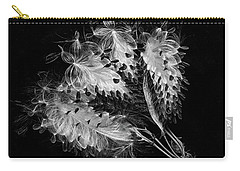 Carry-all Pouch featuring the photograph Asclepias Currasavica--seed Pod by Ann Jacobson