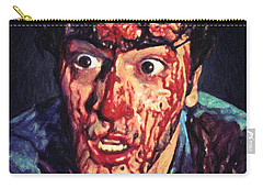 Carry-all Pouch featuring the painting Ash Williams by Taylan Apukovska
