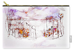 Asheville Mountains Old Friends And A Garden Bench   Carry-all Pouch