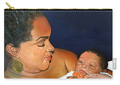 Carry-all Pouch featuring the painting Ashli And Middleton by Marlene Book