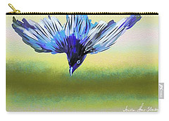 Carry-all Pouch featuring the digital art Asian Paradise Flycatcher by Iowan Stone-Flowers