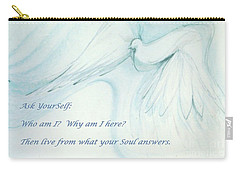 Carry-all Pouch featuring the pastel Ask Yourself by Denise Fulmer