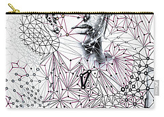 Carry-all Pouch featuring the mixed media Asking The Right Questions by Maria Lankina