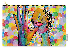 Asl Mother On A Bright Bubble Background Carry-all Pouch