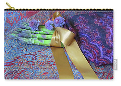 Carry-all Pouch featuring the photograph Asparagus And Cornflowers, Garden Blessings by Nancy Lee Moran