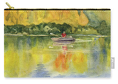 Carry-all Pouch featuring the painting Aspen Afternoon by Kris Parins