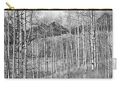 Carry-all Pouch featuring the photograph Aspen Ambience Monochrome by Eric Glaser