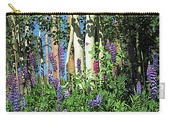 Carry-all Pouch featuring the photograph Aspen And Lupine by Marilyn Hunt