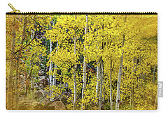 Carry-all Pouch featuring the photograph Aspen Autumn Burst by Bill Gallagher