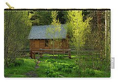 Carry-all Pouch featuring the photograph Aspen Cabin by Leland D Howard