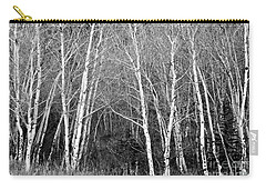 Aspen Forest Black And White Print Carry-all Pouch by James BO  Insogna