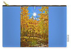 Carry-all Pouch featuring the photograph Aspen Grove Aglow by Diane Alexander