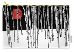 Carry-all Pouch featuring the photograph Aspen Grove Winter by Juli Scalzi