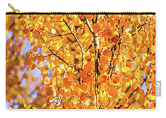 Aspen Of Many Colors Carry-all Pouch by Stephen Johnson