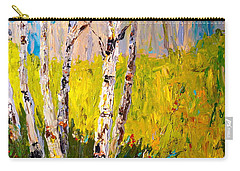 Carry-all Pouch featuring the painting Aspen Spring by Alan Lakin