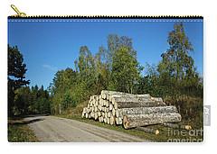 Carry-all Pouch featuring the photograph Aspen Timber by Kennerth and Birgitta Kullman