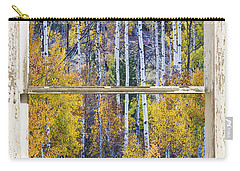 Aspen Tree Magic Cottonwood Pass White Farm House Window Art Carry-all Pouch by James BO  Insogna