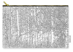 Aspen Tree Wallpaper Carry-all Pouch