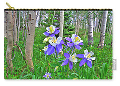 Aspens And Columbines Carry-all Pouch by Scott Mahon