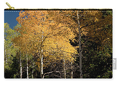 Carry-all Pouch featuring the photograph Aspens And Sky by Steve Stuller