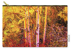 Aspens In Autumn-2 Carry-all Pouch by Nancy Marie Ricketts