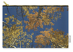 Carry-all Pouch featuring the photograph Aspens Looking Up by Mary Hone