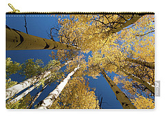 Carry-all Pouch featuring the photograph Aspens Up by Steve Stuller