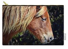 Assateague Horse Sarah's Sweet Tea Right Profile Carry-all Pouch