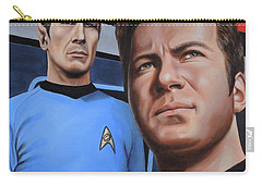 Carry-all Pouch featuring the painting Assessing A Formidable Opponent by Kim Lockman