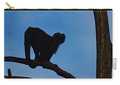 Carry-all Pouch featuring the photograph Assessing The Jump by Steve Taylor