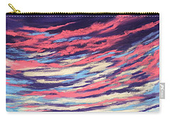 Carry-all Pouch featuring the painting Associations - Sky And Clouds Collection by Anastasiya Malakhova
