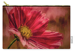 Carry-all Pouch featuring the digital art Aster Red Painterly #h1 by Leif Sohlman