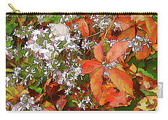 Asters And Creeper Carry-all Pouch by Betsy Zimmerli
