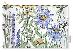 Asters And Wildflowers Carry-all Pouch