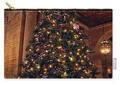 Carry-all Pouch featuring the photograph Astor Hall Christmas by Jessica Jenney