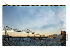 Astoria Megler Bridge By Riverwalk Panorama Carry-all Pouch