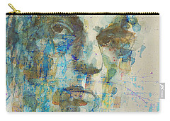 Carry-all Pouch featuring the mixed media Astral Weeks by Paul Lovering
