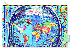 Astronaut World Map 2 Carry-all Pouch by Bekim Art