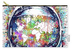 Astronaut World Map 6 Carry-all Pouch by Bekim Art