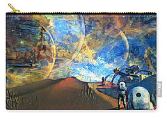 Astronauts On A Red Planet Carry-all Pouch