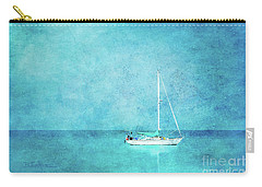 Carry-all Pouch featuring the mixed media At Anchor by Betty LaRue