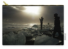 The Diamond Beach, Jokulsarlon, Iceland Carry-all Pouch by Dubi Roman